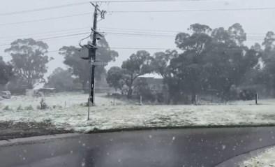 Zeldzame beelden uit Australië: het sneeuwt er in de lente