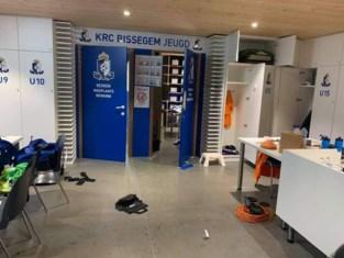 Vandalen vernielen voetballokalen van KRC Bissegem<BR />