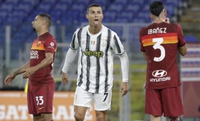 Juventus speelt met man minder gelijk tegen Roma dankzij onvermijdelijke Ronaldo
