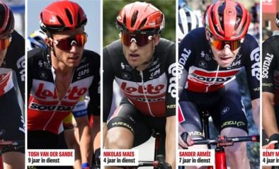 """Vijf Belgische Lotto-renners kregen afgelopen week plots een ontslagbrief in de bus: """"We voeren een generatiewissel door"""""""