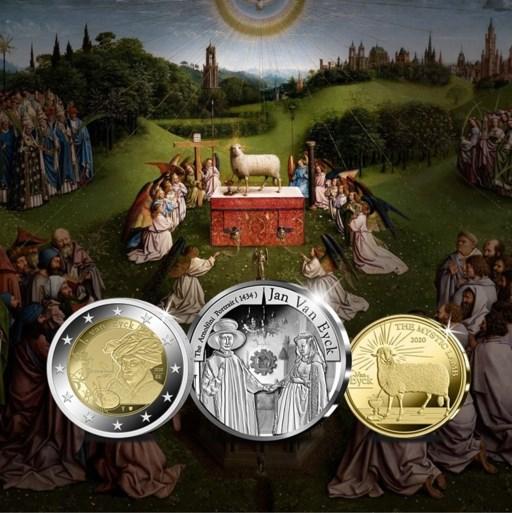 Gent krijgt 'eigen' munt. Pintjes betalen met Jan Van Eyck en Lam Gods