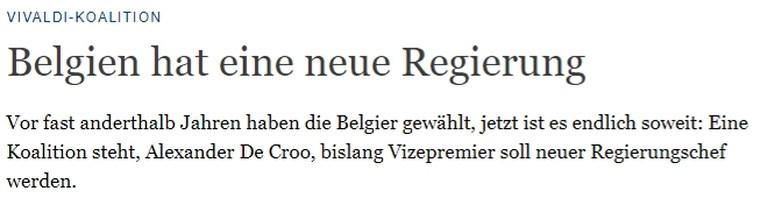 """België haalt buitenlandse pers: van """"vertrouwen moet herwonnen worden"""" tot """"lelijkste formatie ooit"""""""