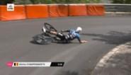 """Campenaerts woedend na crash in spiegelgladde tijdrit Giro: """"Dit was te belachelijk voor woorden"""""""