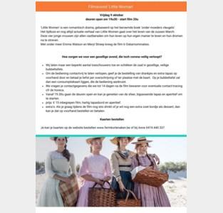 Twee vertoningen van 'Little Women' in Den Hoek