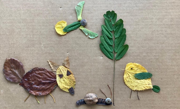 Drie keer creatief met herfstbladeren