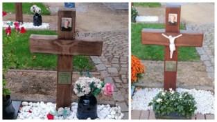 """Nabestaanden hopen dat grafschenner berouw toont na diefstal porseleinen jezusbeeldje: """"Ik ben niet gauw kwaad, maar nu ben ik echt boos"""""""