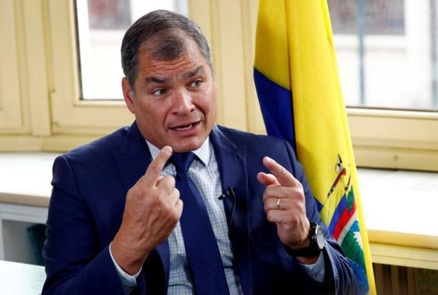 Ecuador vraagt Interpol de in België wonende ex-president Correa op te pakken
