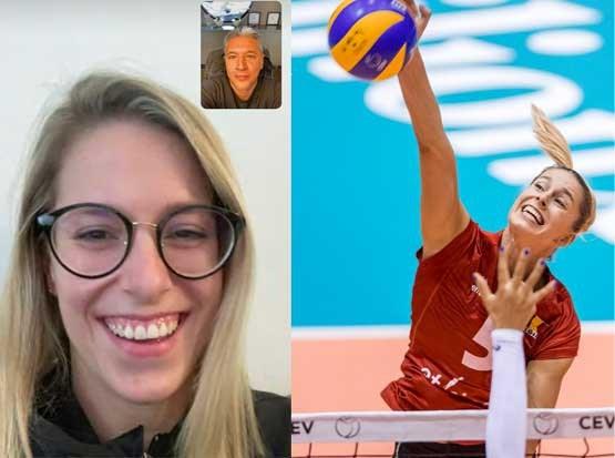 """Volleybalster Laura Heyrman over zatte Japanners, de benen spreiden en haar idool: """"Ik zou graag een koffie drinken met Gert Verhulst"""""""