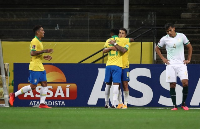 Brazilië wint WK-kwalificatiewedstrijd met forfaitscore, Neymar scoort niet maar amuseert zich en deelt assists uit