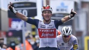 """REACTIES. Mads Pedersen profiteert in Gent-Wevelgem van rivaliteit bij achtervolgers: """"Had vertrouwen in mijn sprint"""""""