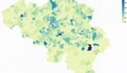 Kaart toont verspreiding van coronavirus in ons land op anderhalve maand tijd