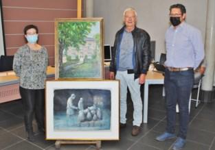 Gewezen OCMW-voorzitter schenkt schilderijen met een persoonlijk verhaal aan gemeente