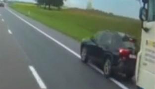 Tientonner moet hard in de remmen op E314 wanneer bestuurder gevaarlijke manoeuvres uitvoert