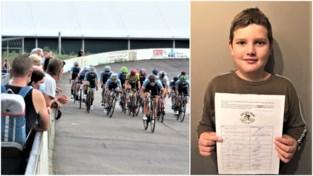 """Jonge renner Jens (11) start petitie voor het openhouden van wielerpiste: """"Met 500 handtekeningen ga ik naar de burgemeester"""""""