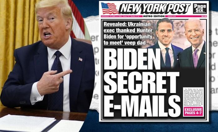 Gelekte mails en Russische mollen: Team Trump probeert schandaal rond Hunter Biden en zijn vader te creëren