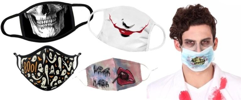 Drie makkelijke looks voor Halloween met een mondmasker