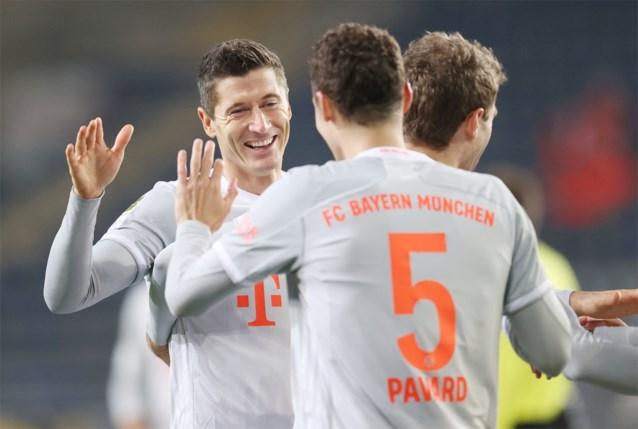 Bayern München haalt stevig uit op bezoek bij promovendus en komt op gelijke hoogte met Borussia Dortmund
