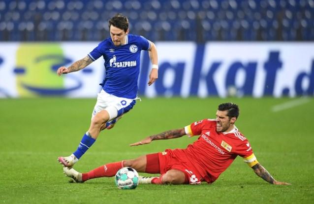Schalke 04 blijft onderaan het klasssement hangen na gelijkspel tegen Union Berlijn