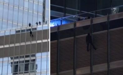 Man beklimt Trump Tower en dreigt ermee touw door te knippen als hij de president niet kan spreken