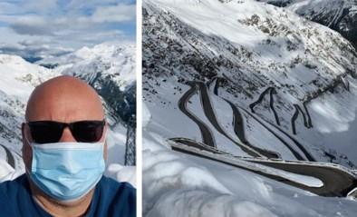 """Wordt sneeuw nieuwe spelbreker in Giro? Onze man stond op de top van de Stelvio: """"We nemen pas donderdagochtend een beslissing"""""""