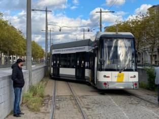Tram ontspoord op Antwerpse Zuid