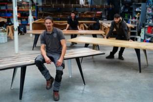 """Gentse broers toveren gevelde bomen om tot unieke tafels: """"Hier zit een echt verhaal achter"""""""