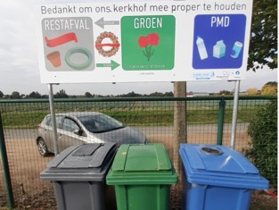 Extra afvalcontainers op kerkhoven