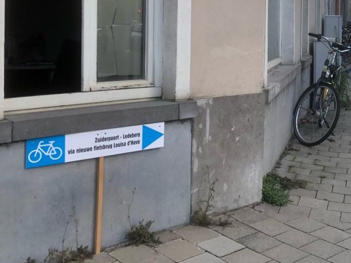 Waar is Louisa? Veel fietsers vinden nieuwe fietsbrug niet
