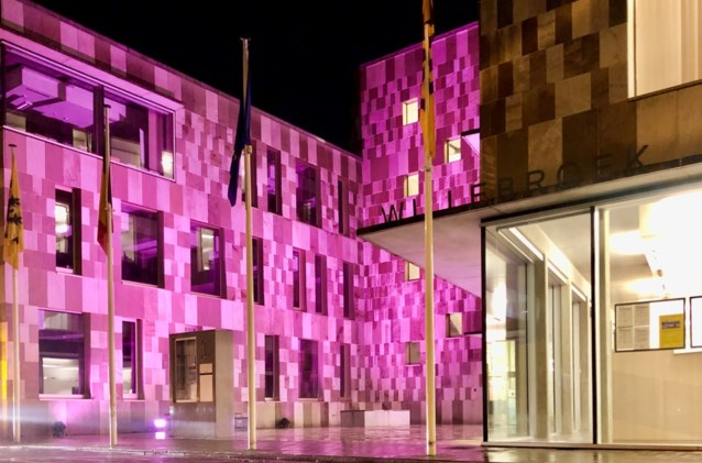 Willebroek kleurt roze tijdens Internationale Borstkankermaand