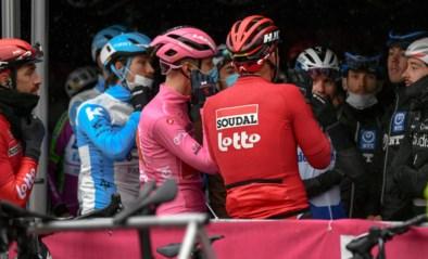Renners in Giro staken: etappe eerst ingekort en zelfs tijdelijk geneutraliseerd wegens koude en regen