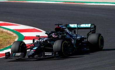 Lewis Hamilton snoept polepositie GP van Portugal af van teamgenoot Valtteri Bottas