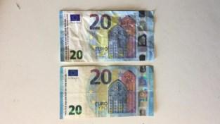Valse briefjes van twintig in drankhallen van Genk en As