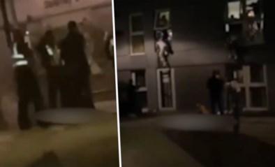 Studenten op lockdownfeestje springen door het raam wanneer politie opduikt