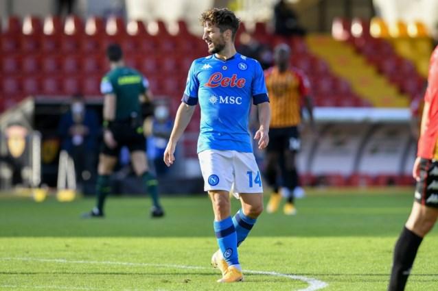 Napoli wint op bezoek bij Benevento, Dries Mertens na een uurtje naar de kant