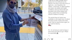"""Jennifer Aniston heeft gestemd en geeft ook stemadvies: """"Het is niet grappig om op Kanye West te stemmen"""""""