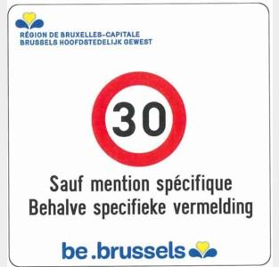 Brussel Mobiliteit start in november met plaatsen van duizenden verkeersborden voor zone 30