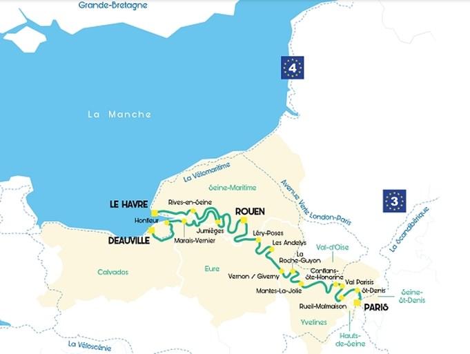 Nieuwe fietsroute loopt van Parijs langs de Seine naar Normandië