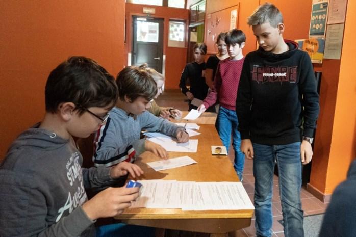 Leerlingen hielden verkiezingen, zoals in het echt