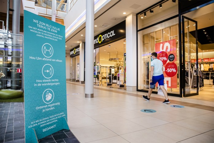 Dranken en voeding nuttigen aan Waasland Shopping verboden