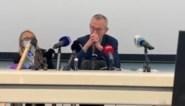 Minister Frank Vandenbroucke kan tranen amper bedwingen tijdens bezoek aan Luiks ziekenhuis