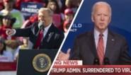 """Corona versus corruptie: Biden valt Trump aan over """"belediging"""" van slachtoffers, president klaagt over doofpot rond rivaal"""
