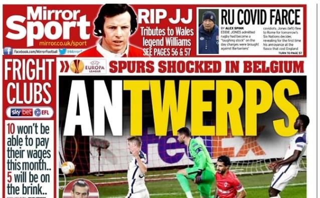 """Antwerp siert covers van Britse sportkranten: """"Verdiende overwinning met Ritchie De Laet in majestueuze vorm"""""""