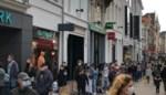 Lange rijen aan Gentse winkels die maandag moeten sluiten, maar geen stormloop