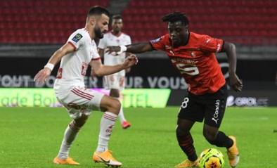 Rennes buigt achterstand om in zege, Jérémy Doku speelt ruim een uur