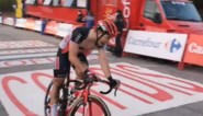 De oerkreet van Belgische sprinter Gerben Thijssen als hij eindelijk bovenkomt in de Vuelta