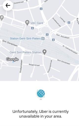 Populaire taxidienst Uber start met ritten in Gent
