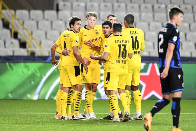 Club Brugge maakt kennis met Dortmund-Belgen én tienerfenomeen Haaland: Duitsers klaren de klus eenvoudig in de eerste helft
