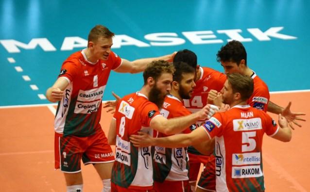 Maaseik voorlopig leider in EuroMillions Volley League na 3-0 zege tegen Haasrode Leuven