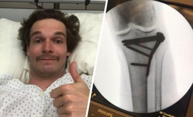 """Snowboarder Seppe Smits met succes geopereerd na kniebreuk, maar nu wacht lange revalidatie: """"Balen"""""""
