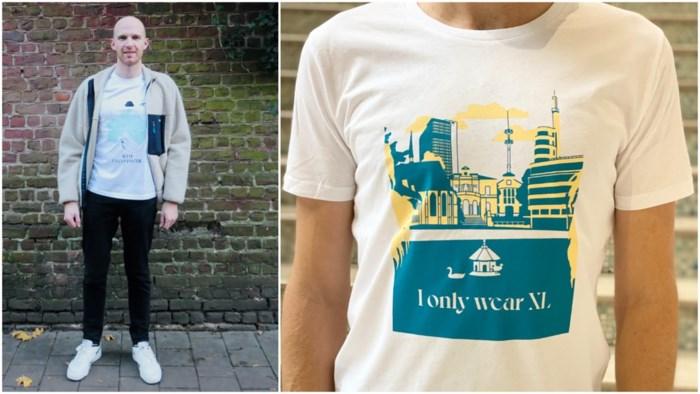"""Kwinten (31) maakt statement met Brusselse slogans op T-shirts: """"We zijn niet fier genoeg op onze stad"""""""